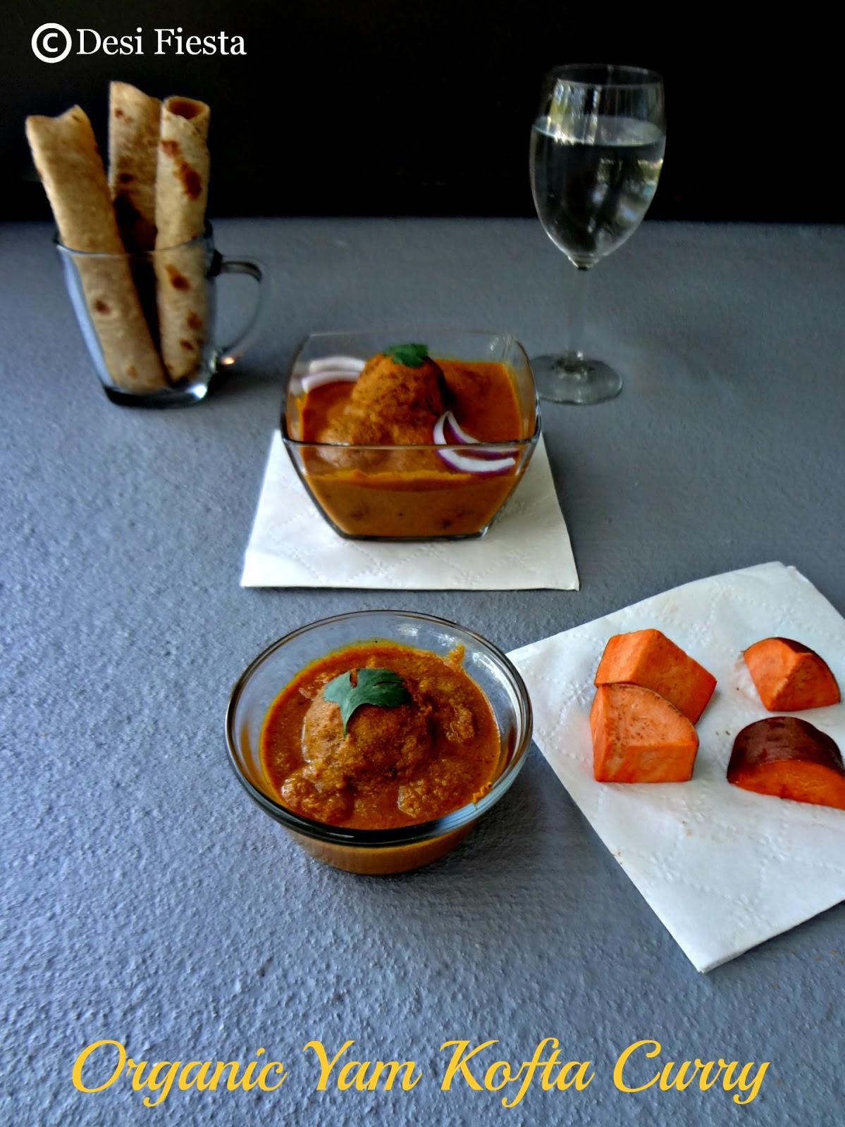 Desi Fiesta : Organic Yam Kofta curry