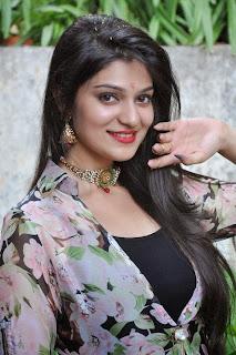 Actress Siya Gautham Picture Gallery in Long Dress at Pilavani Perantam Telugu Movie Opening  7.jpg