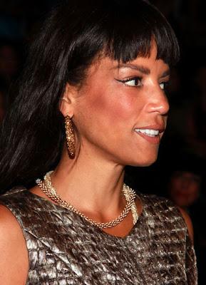 Veronica Webb Gemstone Hoop Earrings