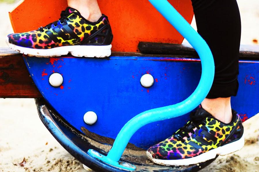 adidas ZX Flux Rainbow Leopard, myberlinfashion footlocker outfit style
