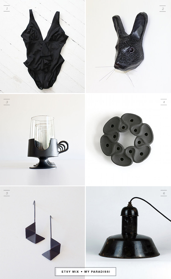 Etsy mix of the week: Black | My Paradissi