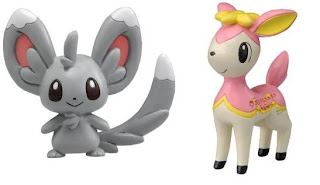 Pokemon Figure Tomy MC Minccino Deerling