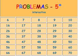 PROBLEMAS DE 5º