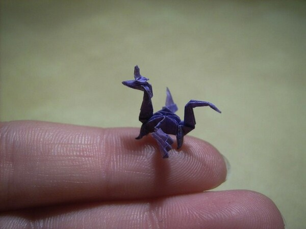 Miniature origami art