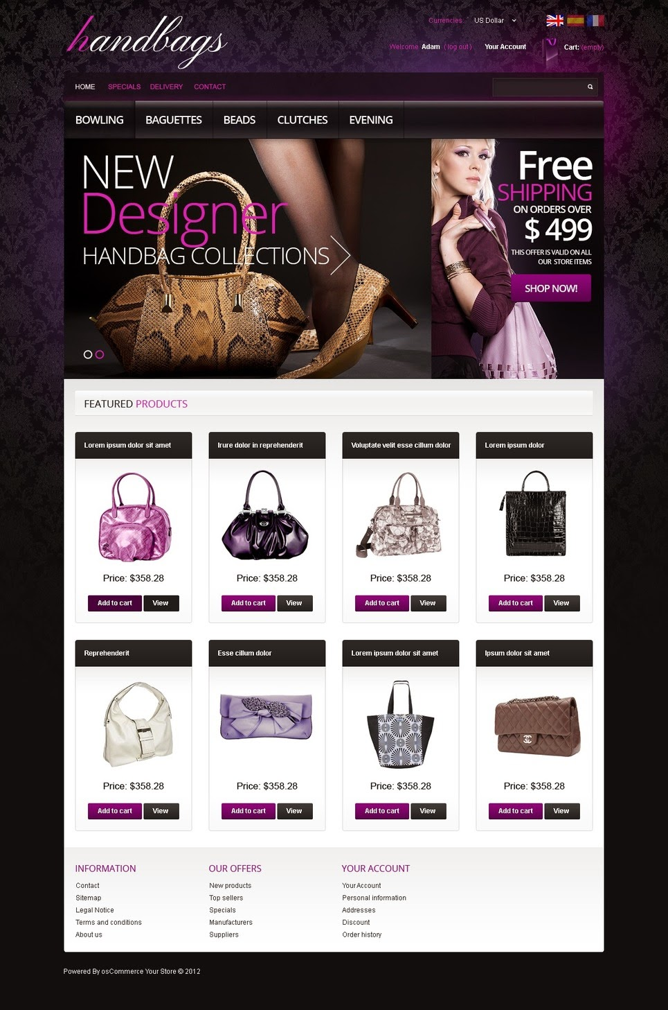 thiết kế website bán hàng túi xách đẹp