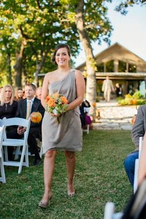 Ryan and Leslie, Processional, Texas Ranch Wedding, Matron of Honor
