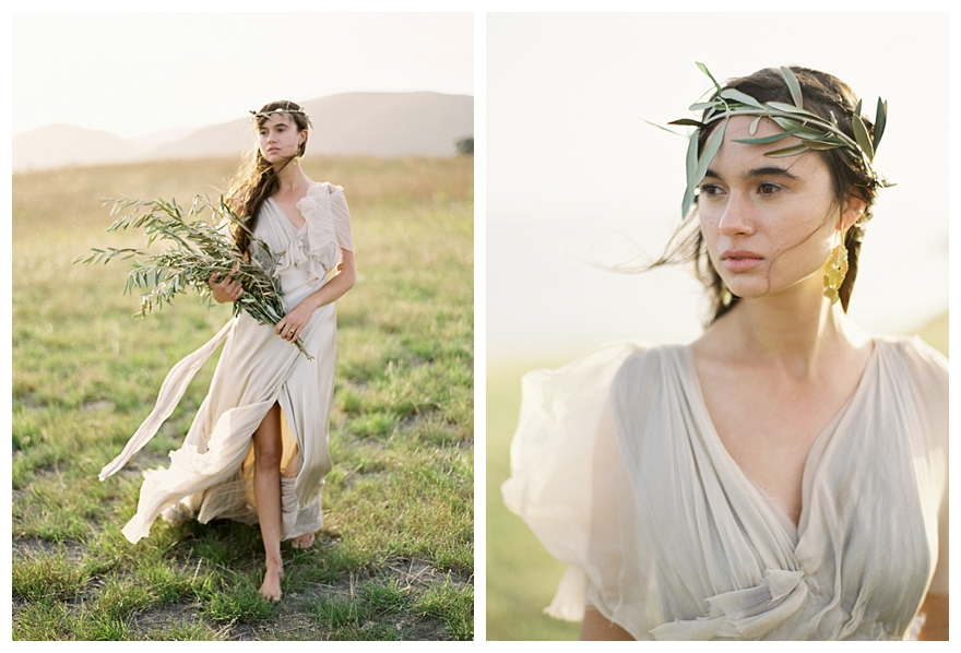 Greek Goddess Bride Style