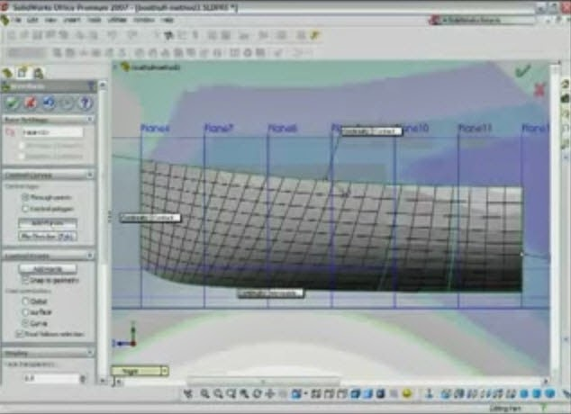 how to make a boat hull in solidworks