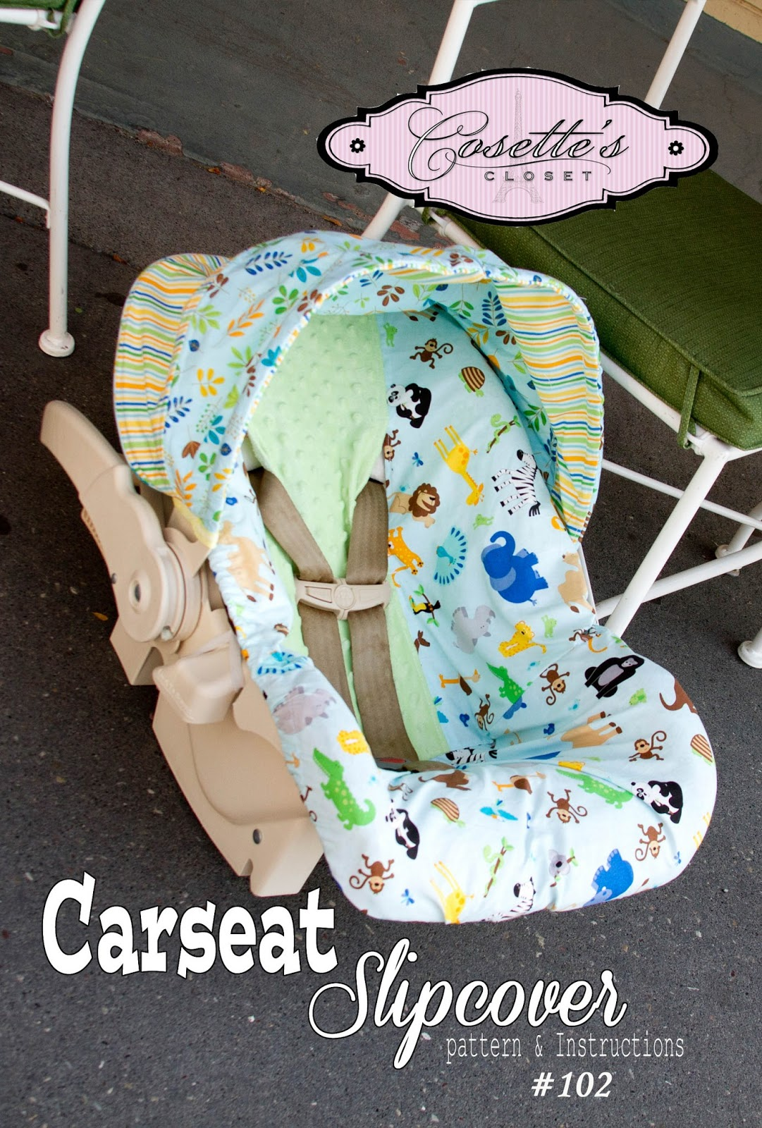 Car Seat Slipcover Sewing Pattern