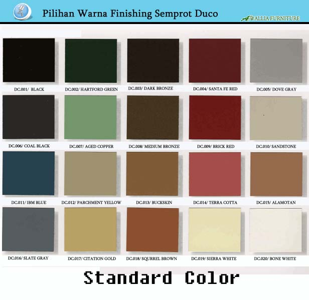 Pilihan Warna Finishing Cat Duco Standard