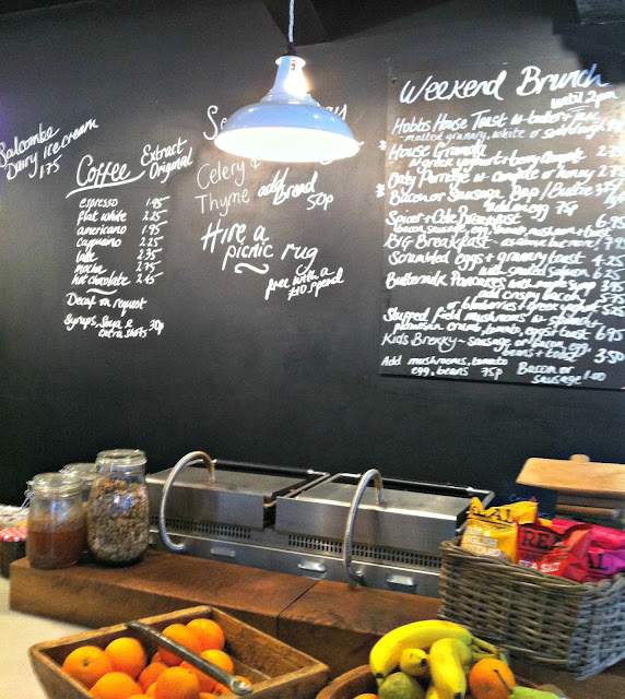 Chalkboard menu at Spicer+Cole