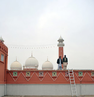 decoration on mosque on 14 august