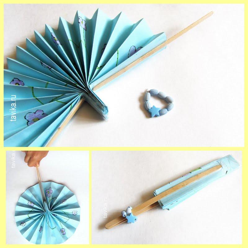 Как сделать веер из бумаги своими руками