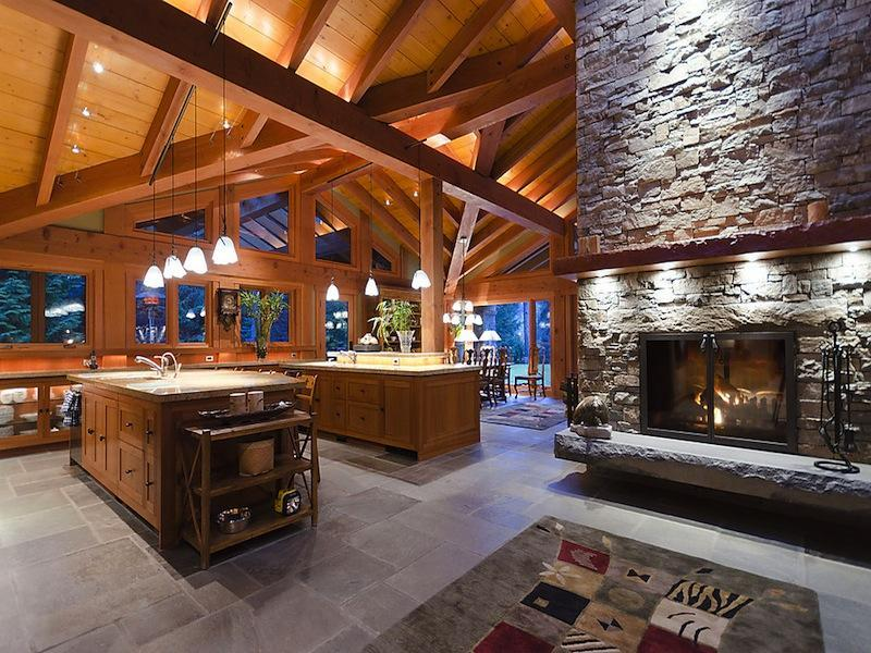 Large Open Floor Plans Well Open Kitchen Floor Plan Together With