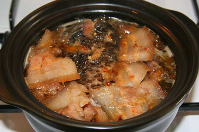 Caramelized Tilapia Fish with Pork Belly in Fish Sauce
