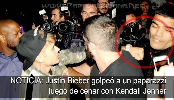 NOTICIA -  Golpea Justin Bieber a un paparazzi luego de cenar con Kendall Jenner