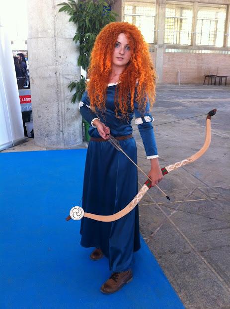Merida de Brave  en la Comic Con Spain 2012