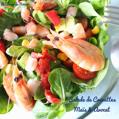 Illustration Salade de Crevette - Maïs & Avocat