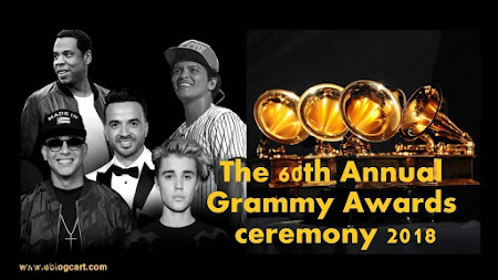 Poster Of The 60th Annual Grammy Awards   2018 Watch Online Free Download