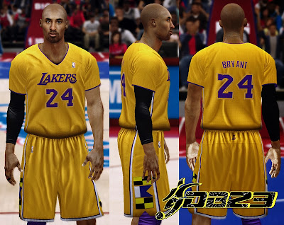 NBA 2K14 Lakers Sleeved Jersey Mod