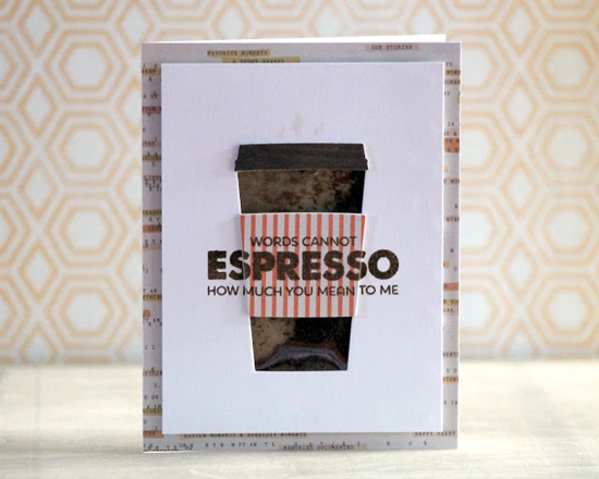 Cannot Espresso Card by Clare Prezzia featuring the Laina Lamb Designs Perk Up stamp set and Coffee Cup Die-namics #mftstamps