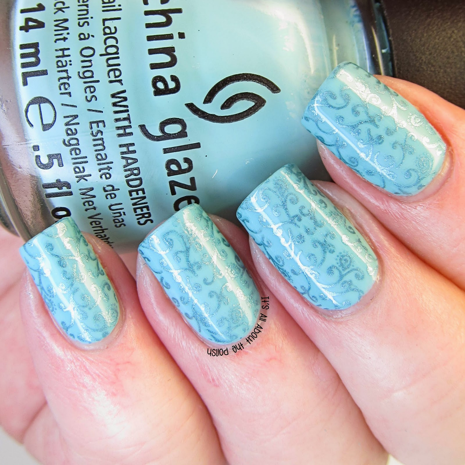 It\'s all about the polish: Lily Anna Stamping Plate 09 review