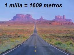 Equivalencia milla en metros