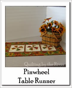 Pinwheel Table runner Free Tutorial at Freemotion by the River