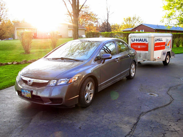 Who knew a Civic could pull a U-Haul?!?