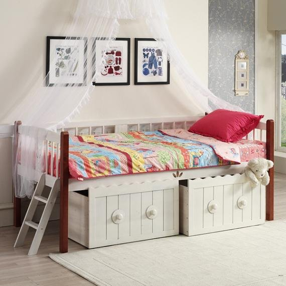 Camas con cajones que ahorran espacio drawer bed fotos for Dormitorios pequenos para adultos