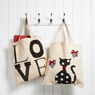 Decorated Tote Bags for Valentines Day