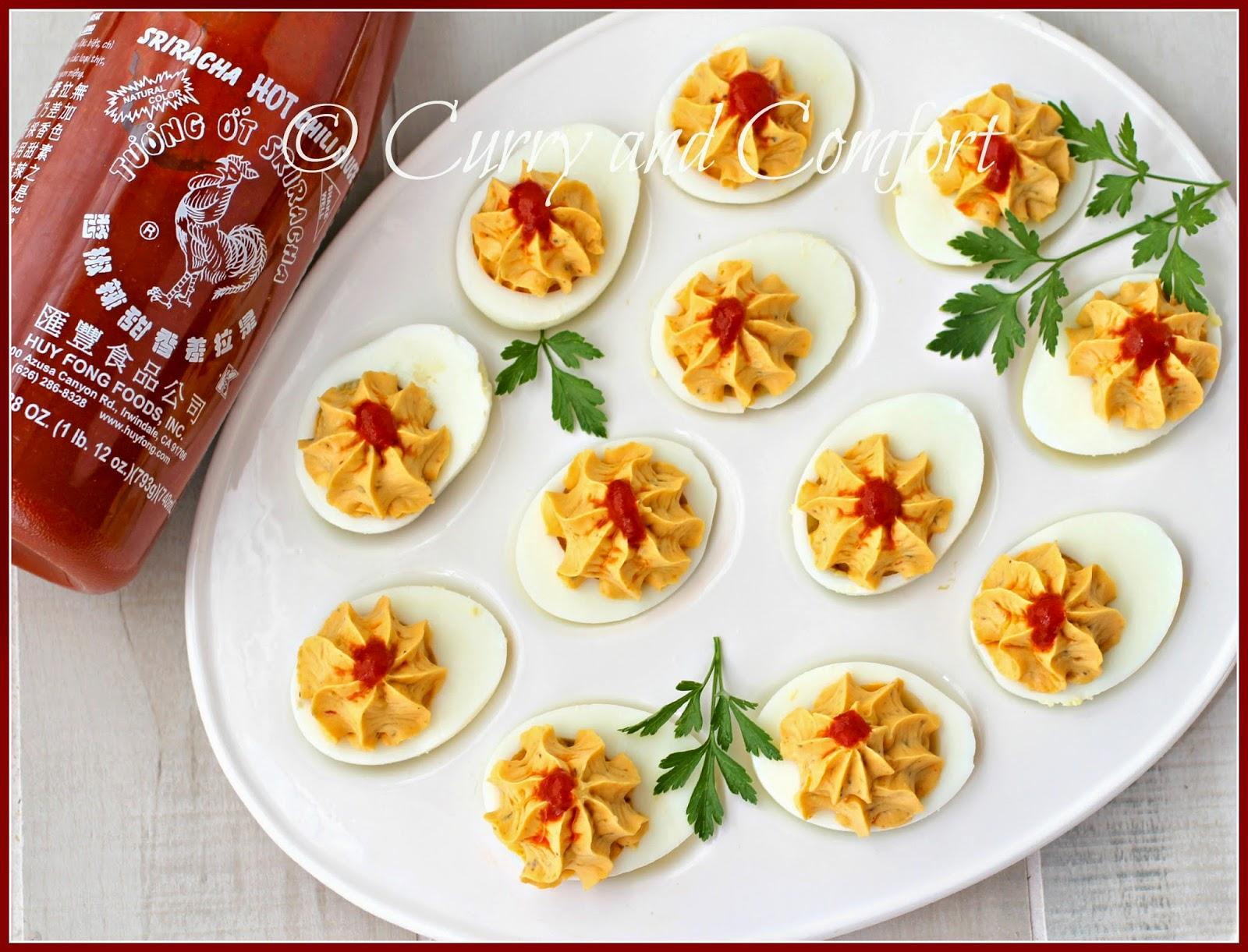 Kitchen Simmer: Sriracha Deviled Eggs