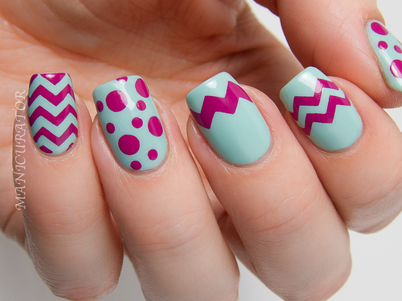 KBShimmer-Chevron-Dot-Easter-Nail-Art-Life-Rose-On-A-Touch-Of-Glass
