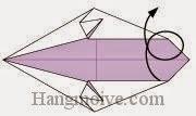 Bước 6: Lật mặt sau tờ giấy sang đằng trước.