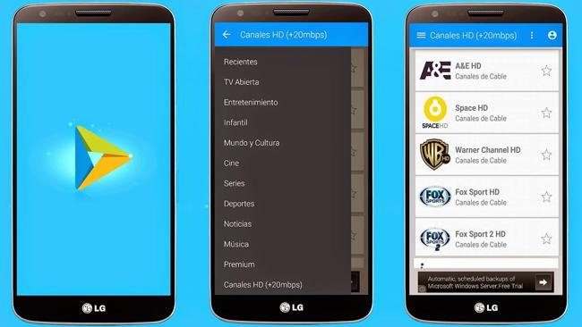 Vea TV De Paga En Cualquier dispositivo Android