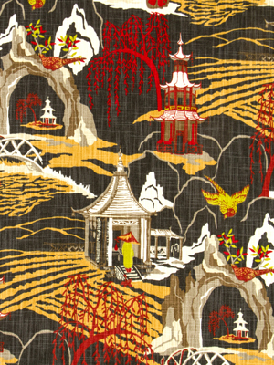 Asian toile fabric