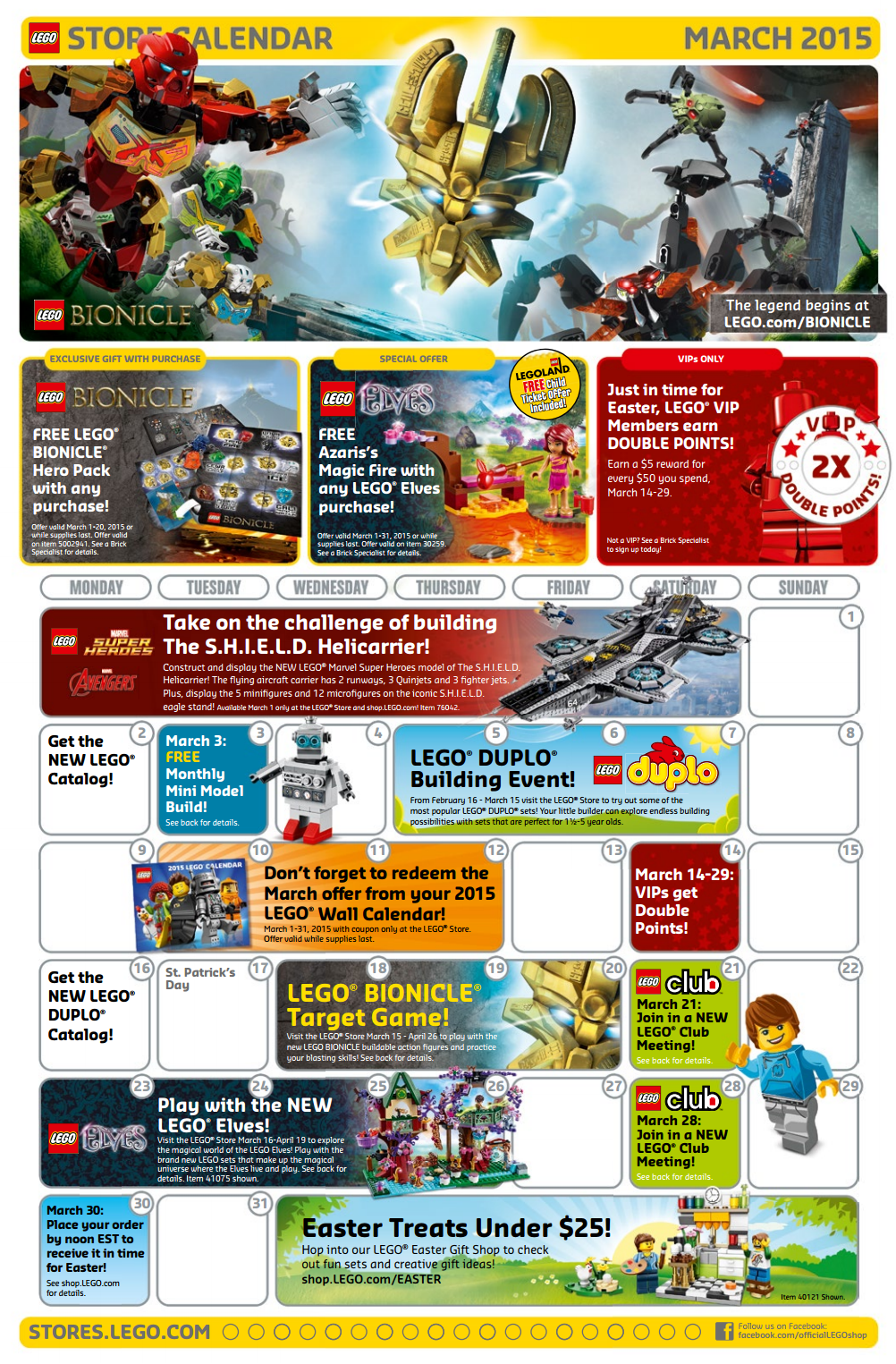 lego March events