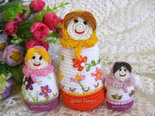 Crochet Russian Doll Babushkas Matryoshka