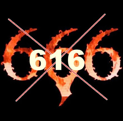 616 not 666 is number of Beast or Antichrist