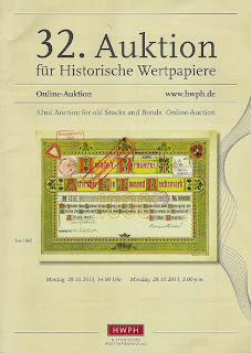 HWPH catalogue depicting Holsten brewery share certificate