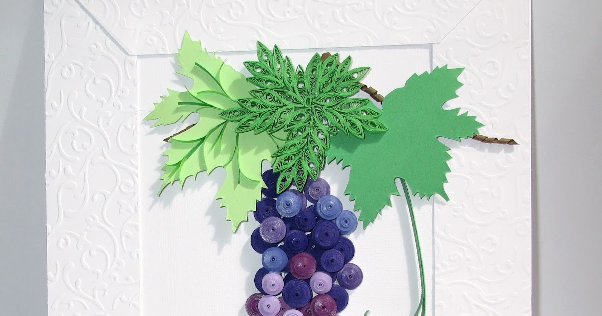 Quilled GrapeVine with LadyBug