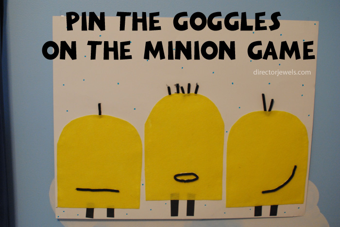 Pin the Goggles on the Minions Game | Minions Despicable Me Party Ideas at directorjewels.com