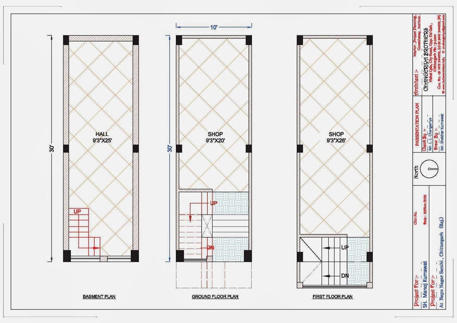 10x30 complex shop plan for mr manoj kumawat indian for Shop house plans