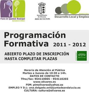 PROGRAMACIÓN FORMATIVA DEL PUNTO DE IGUALDAD MUNICIPAL, ÁREA DE CULTURA Y DE DESARROLLO LOCAL. EDICIÓN 2011-2012