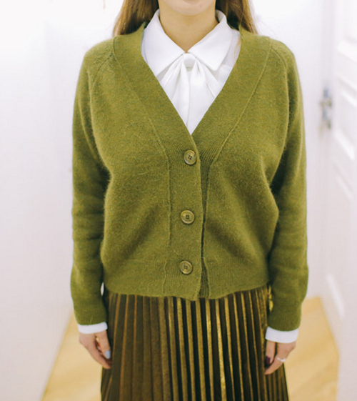 Raglan Three Button Cardigan