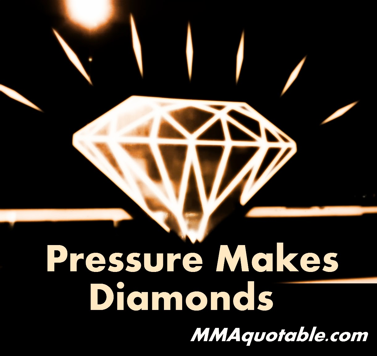 Pressure Makes Diamond: Motivational Quotes With Pictures (many MMA & UFC