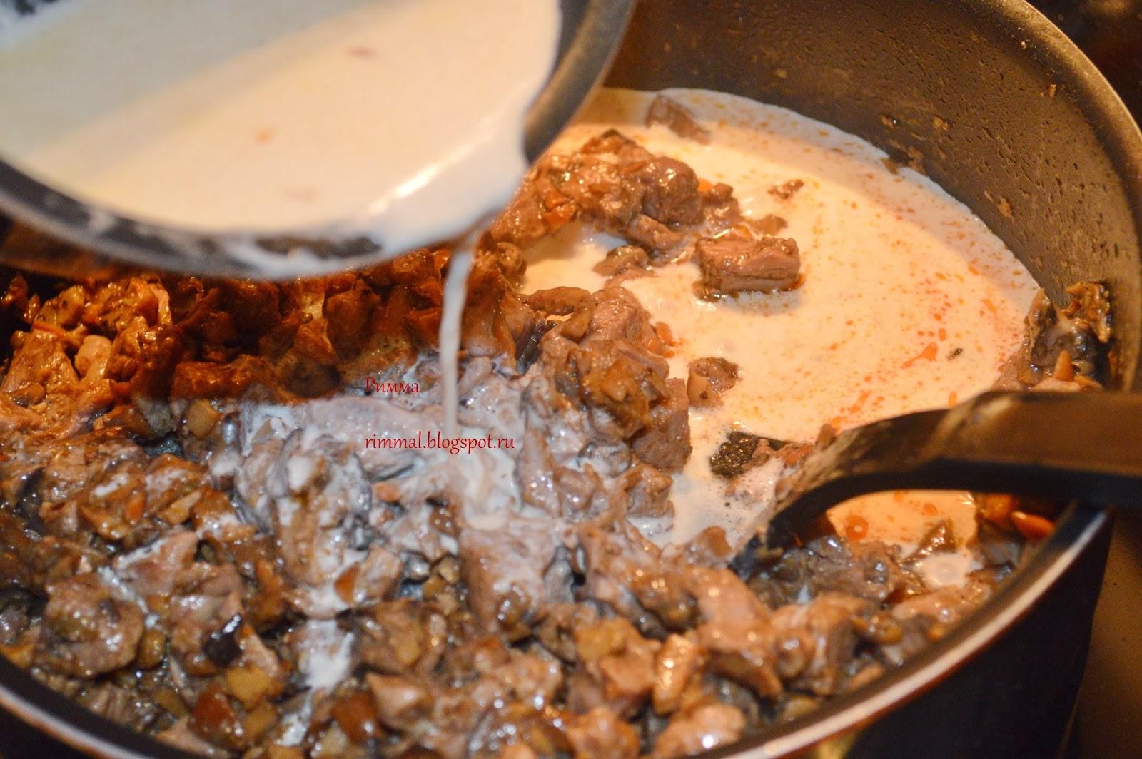 Жульен из лесными грибами рецепт пошагово