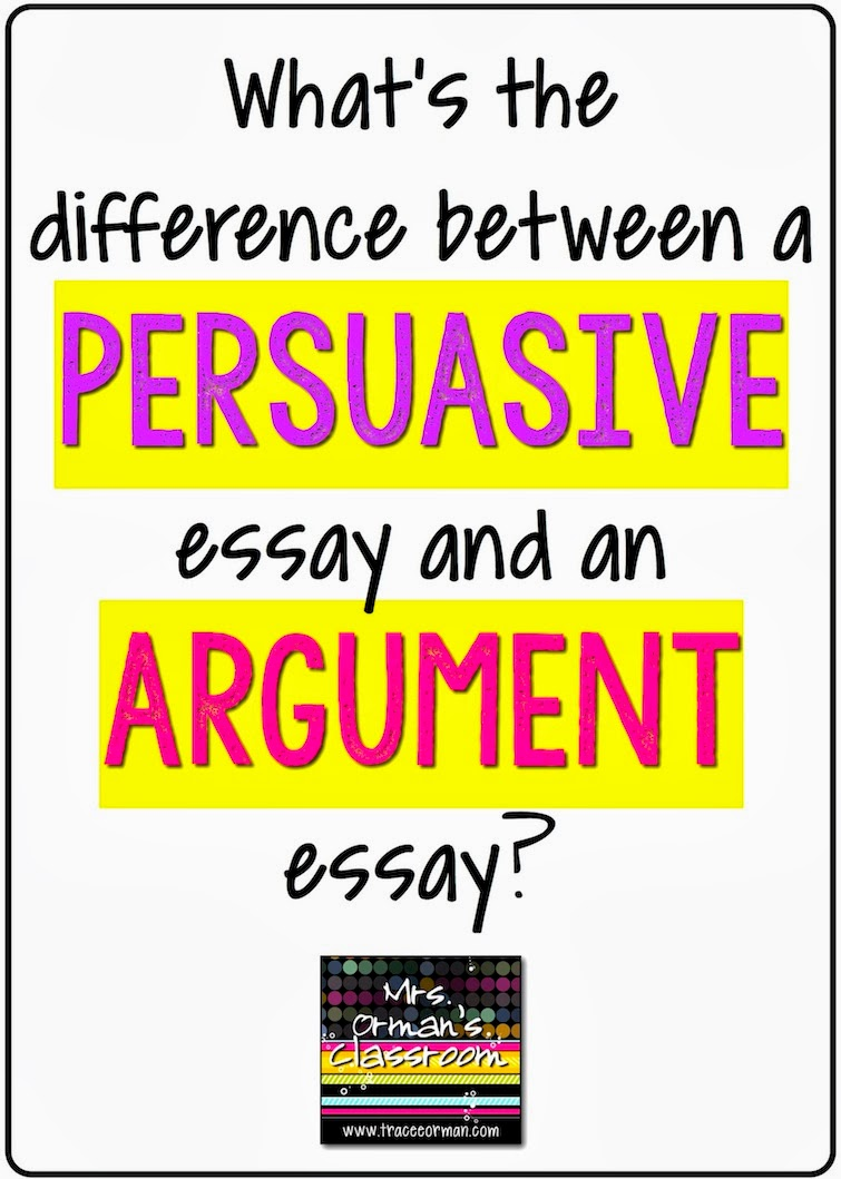 ... between a persuasive essay and an argument essay? Click for more