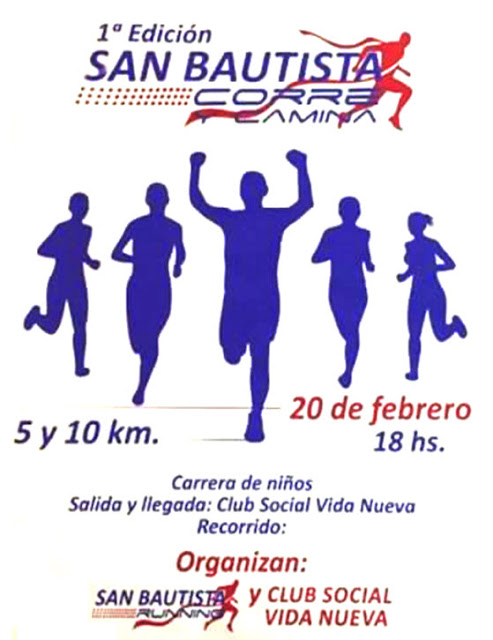 10k y 5k San Bautista corre y camina (Canelones, 20/feb/2016)