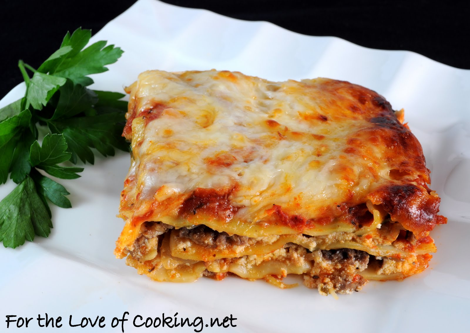 Ground Beef, Caramelized Onion, and Spinach Lasagna | For the Love of ...